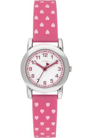 s.Oliver Uhr Armbanduhr, beere
