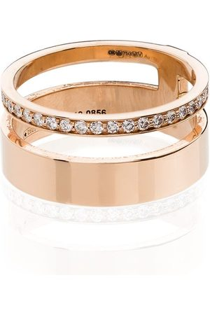 Repossi Damen Ringe - 18kt 'Berbere Module' Rotgoldring mit Diamanten