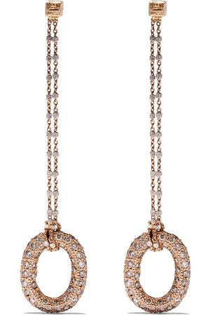 CAROLINA BUCCI 18kt 'Pave Links' Rotgoldohrringe mit Diamanten