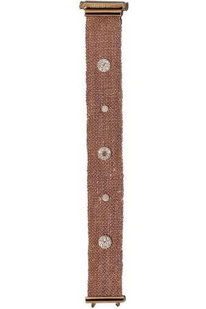 CAROLINA BUCCI VIII' Armband aus 18kt Rotgold und Seide mit Diamanten