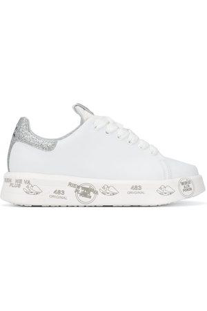 Premiata Belle' Flatform-Sneakers in Glitter-Optik
