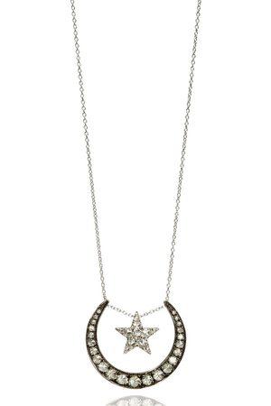 ANNOUSHKA Damen Halsketten - 18kt Weißgoldhalskette mit Diamanten