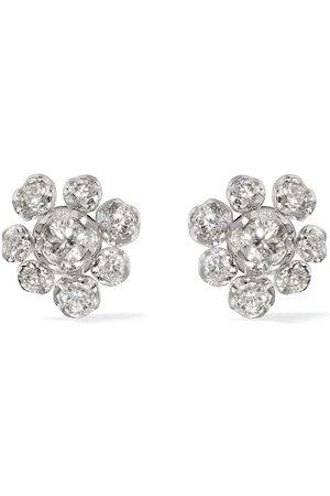 ANNOUSHKA 18kt 'Marguerite' Weißgoldohrstecker mit Diamanten