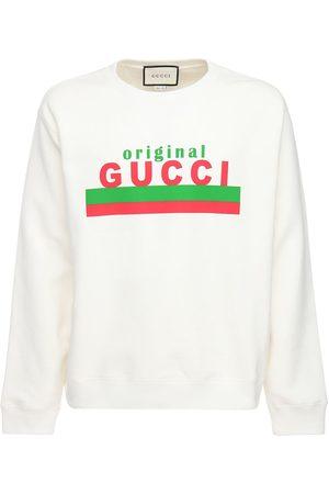 Gucci Sweatshirt Aus Baumwolle Mit Druck