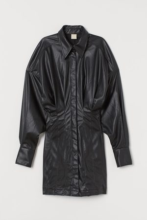 H&M Kleid aus Lederimitat