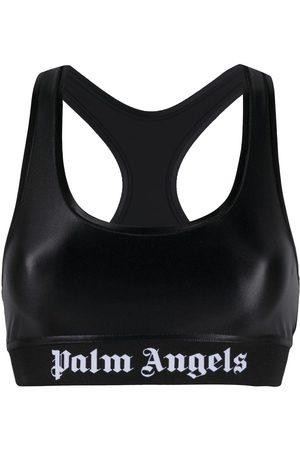 Palm Angels Sport-BH mit Logo-Print
