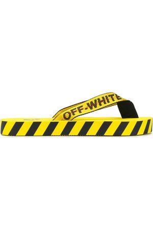 OFF-WHITE Flip-Flops mit diagonalen Streifen