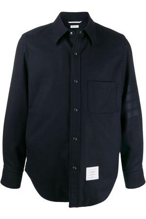 Thom Browne Flanell-Hemdjacke mit Druckknöpfen