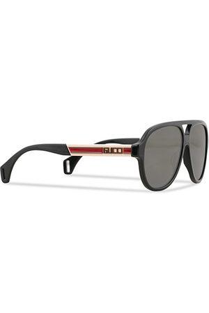 Gucci GG0463S Sunglasses Black/White/Grey