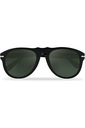 Persol 0PO649 Sunglasses Black/Crystal Green