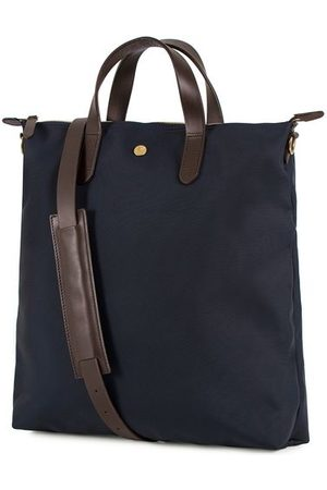Mismo M/S Nylon Shopper Bag Navy/Dark Brown