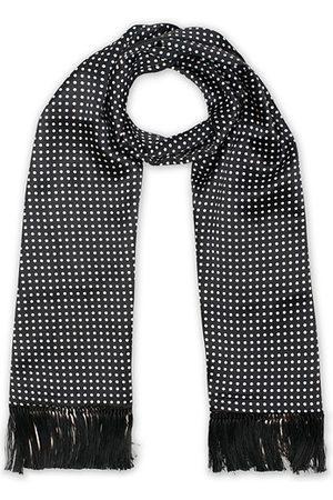 Eton Silk Polka Dot Scarf Black