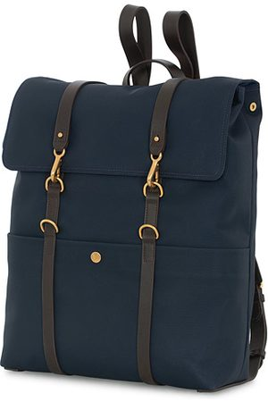 Mismo M/S Nylon Backpack Navy Dark Brown