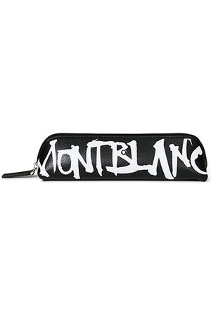 Mont Blanc Sartorial 2 Pen Pouch Zip Top Calligraphy Black