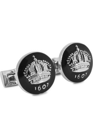 Skultuna Cuff Links The Crown Silver/Baroque Black