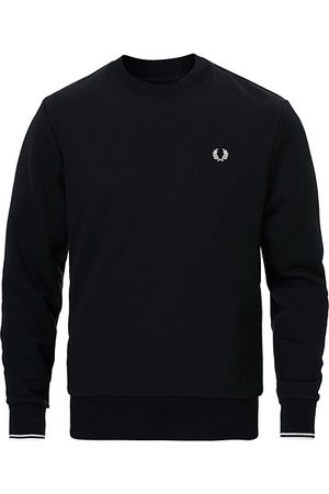 Fred Perry Herren Sweatshirts - Crew Neck Sweatshirt Black