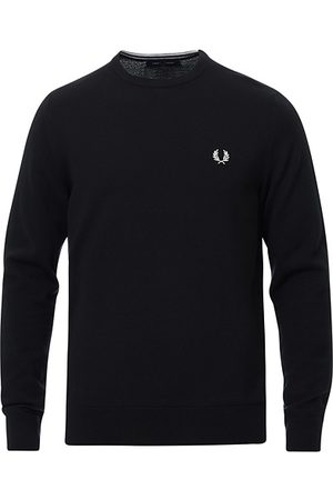 Fred Perry Classic Crew Neck Jumper Black