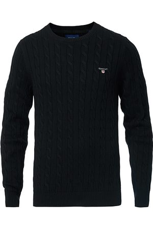 GANT Cotton Cable Crew Neck Pullover Black