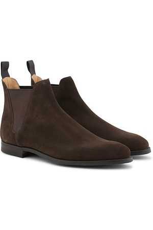 Crockett & Jones Chelsea 8 Boot Dark Brown Suede
