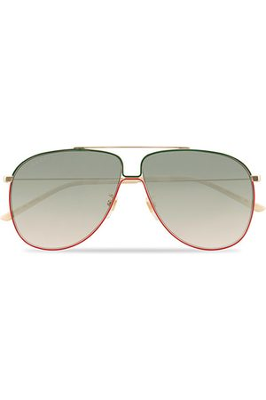 Gucci GG0440S Sunglasses Gold/Green