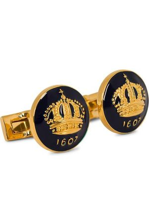 Skultuna Cuff Links The Crown Gold/Royal Blue