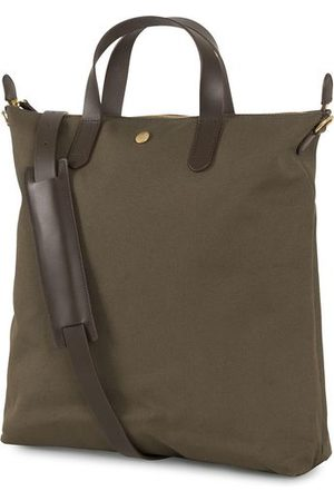 Mismo M/S Canvas Shopper Army/Dark Brown
