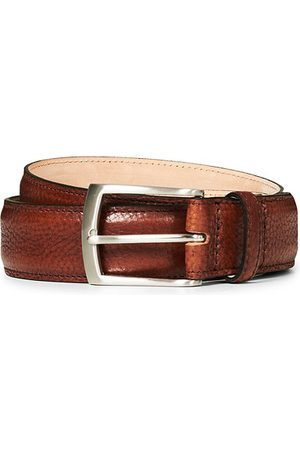 Loake Henry Grained Leather Belt 3,3 cm Mahogany