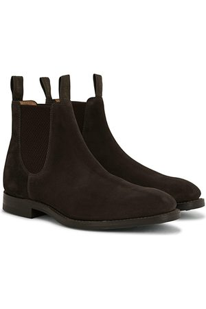 Loake Chatsworth Chelsea Boot Dark Brown Suede