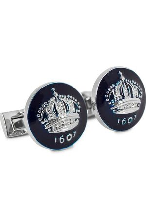 Skultuna Herren Manschettenknöpfe - Cuff Links The Crown Silver/Royal Blue