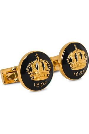 Skultuna Herren Manschettenknöpfe - Cuff Links The Crown Gold/Baroque Black