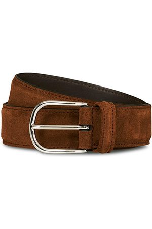 Anderson's Suede 3,5 cm Belt Brown