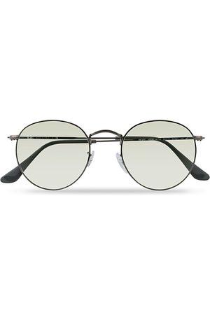 Ray-Ban 0RB3447 Round Metal Sunglasses Gunmetal/Light Green