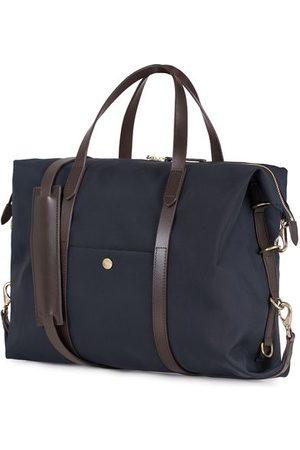 Mismo M/S Utility Nylon Duffle Bag Navy/Dark Brown