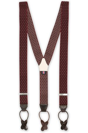 Albert Thurston Elastic Dot Braces 35 mm Wine
