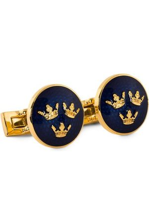 Skultuna Cuff Links Tre Kronor /Royal Blue