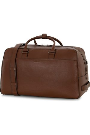 Tiger of Sweden Brome Grained Leather Weekendbag Brown