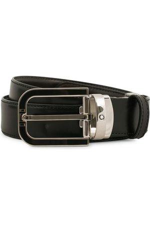 Mont Blanc Reversible Horseshoe Buckle 30mm Belt Black