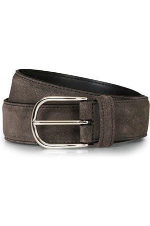 Anderson's Suede 3,5 cm Belt Grey