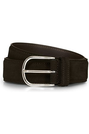 Anderson's Suede 3,5 cm Belt Dark Brown