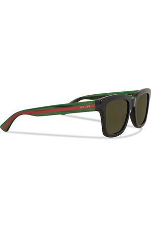 Gucci GG0001S Sunglasses Black/Green