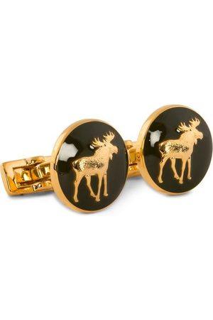 Skultuna Herren Manschettenknöpfe - Cuff Links Hunter The Moose Gold/Green