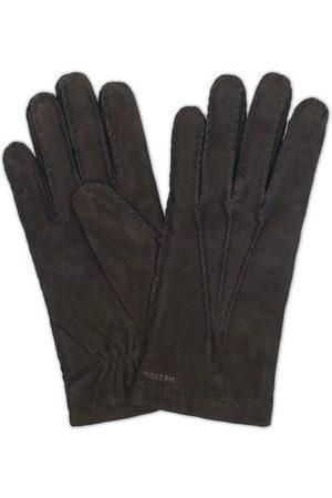 Hestra Herren Handschuhe - Arthur Wool Lined Suede Glove Black