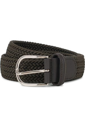 Anderson's Stretch Woven 3,5 cm Belt Green