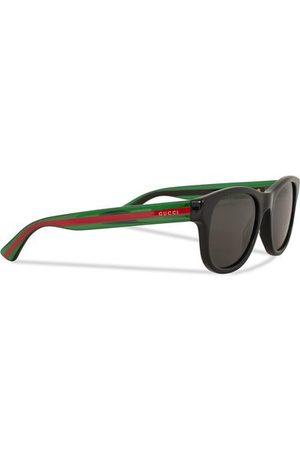 Gucci GG0003S Sunglasses Black/Green/Grey