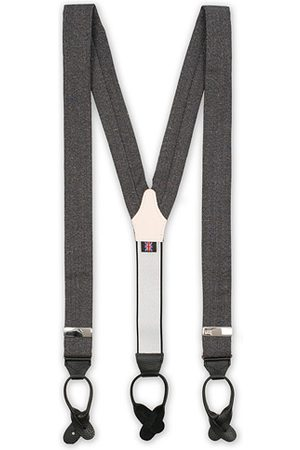 Albert Thurston Donegal Tweed Braces 40 mm Dark Grey