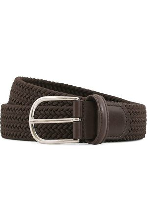 Anderson's Stretch Woven 3,5 cm Belt Brown