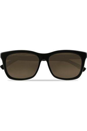 Gucci GG0449S Sunglasses Black/Gold/Brown