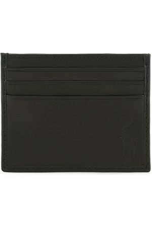Polo Ralph Lauren Herren Geldbörsen & Etuis - Pebble Leather Slim Card Case Black