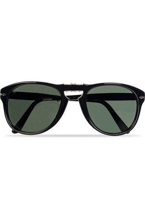 Persol PO0714 Folding Sunglasses Black/Crystal Green