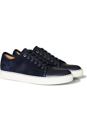 Lanvin Herren Caps - Nappa Cap Toe Sneaker Navy